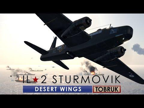 Torpedo Attacks on Ship Convoys!   IL-2 Sturmovik: Desert Wings - TOBRUK  