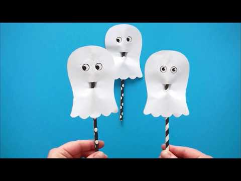 How to Make a Paper Ghosts Craft
