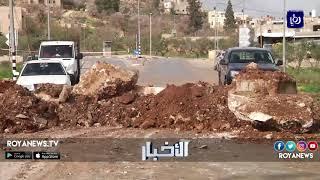 فلسطين إغلاق الشارع الرئيسي لبلدة بيتا بحجة إلقاء الشبان الحجارة والزجاجات المشتعلة - (12-2-2018)