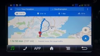 Toyota Aygo x-touch Google Maps navigation