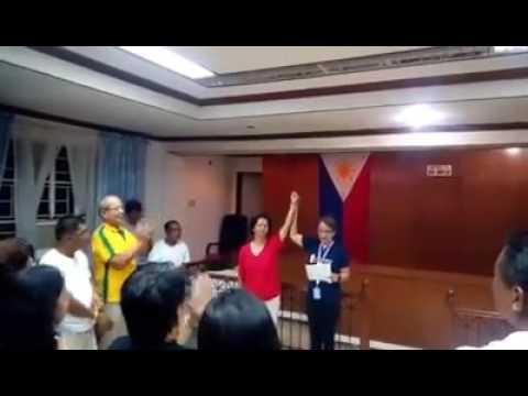 New elected mayor and vice mayor in magdiwang