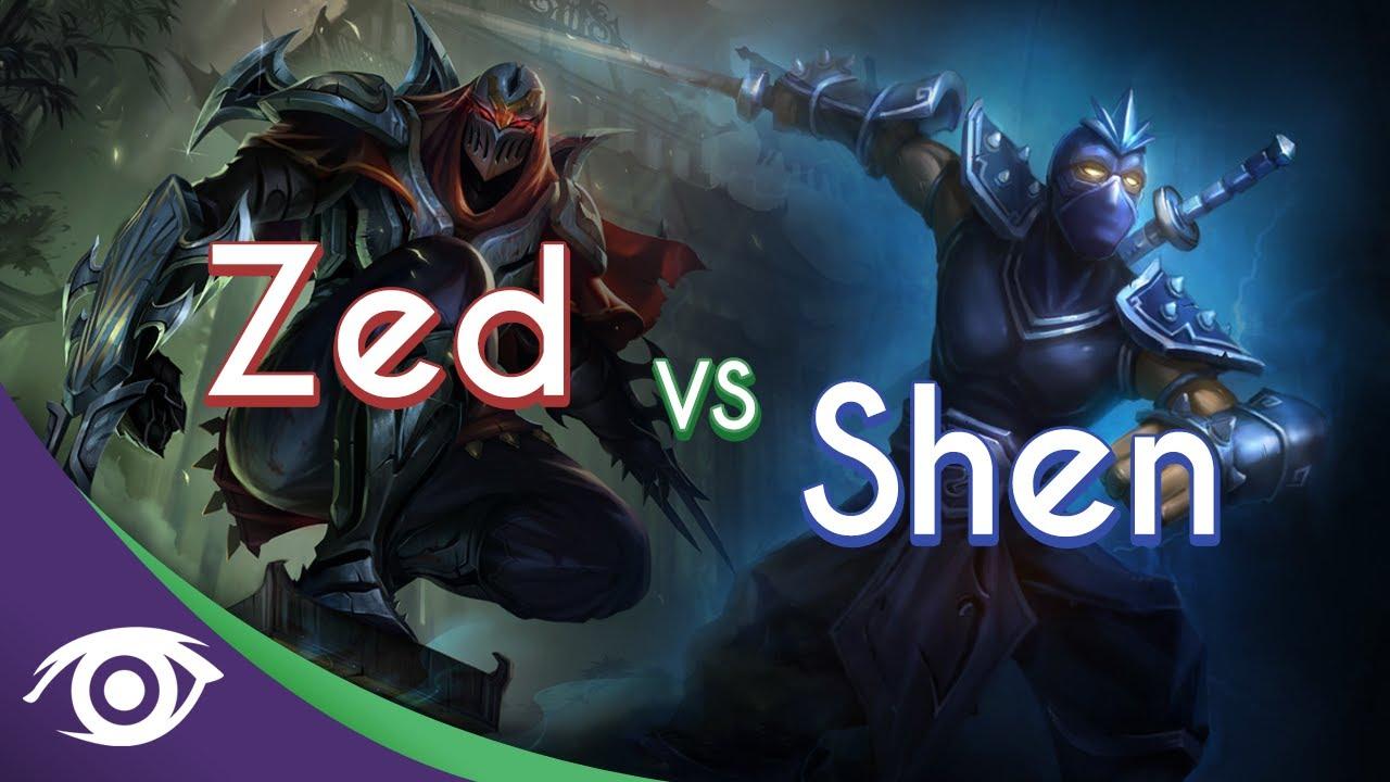 1v1 Mid: Zed vs Shen [Champion Rap Battles] - YouTube