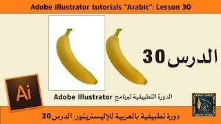 Adobe illustrator الدرس 30 للدورة التطبيقية لبرنامج