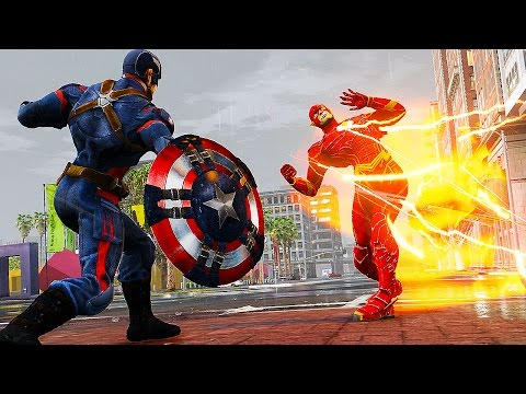 Injustice Flash VS Captain America ! VIBRANIUM MAGNETIC SHIELD VS. SPEED FORCE ! (Ultimate Flash)