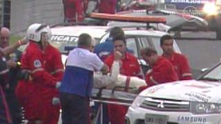 Mark Webber Survives Crash In Sao Paulo