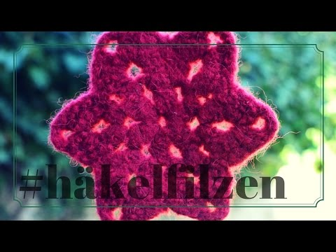 Filzstern | Stern häkeln und filzen | Anleitung