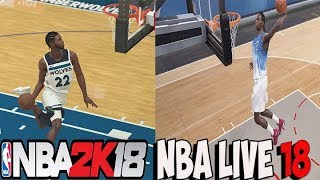NBA LIVE 18 VS NBA 2K18 DUNK Comparison