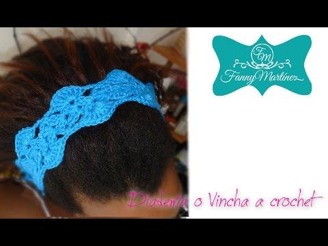 Como hacer una diadema o vincha a crochet facilmente - Diademas a crochet ...