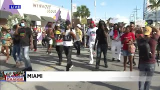 'Whose streets? Our streets,' Miami protesters chant