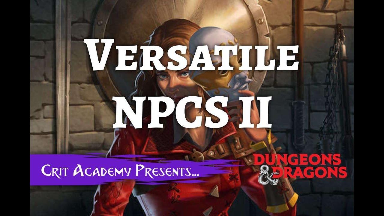 Versatile NPCs 2 w/ Darrin Scott