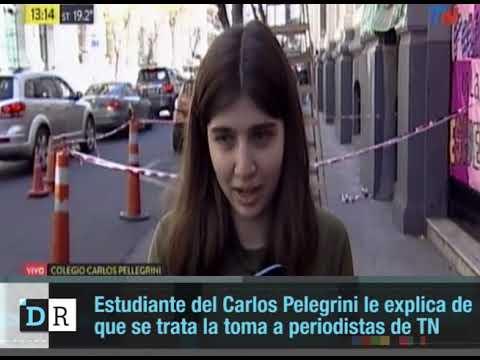 Estudiante del Carlos Pelegrini le explica de  que se trata la toma a periodistas de TN