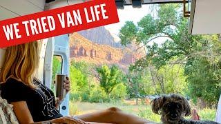 WE TRIED VAN LÏFE | Our Trip to Utah National Parks
