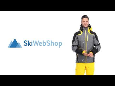 Spyder, Leader GTX, Ski Jacket, Long Model, Men, Yellow/black