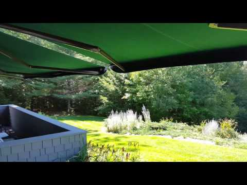 Sunesta Motorized Awning on a Windy Day