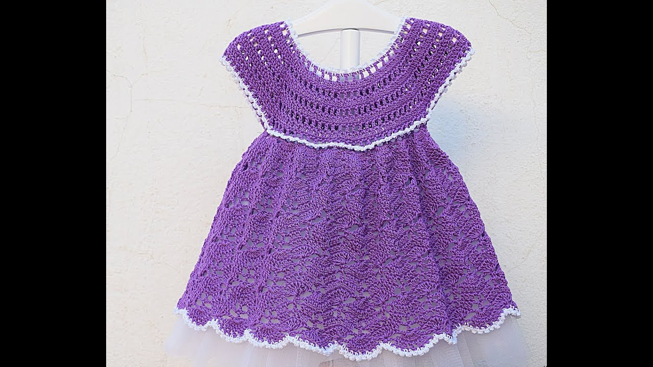 Crochet Girl Dress Very Easy Majovel Crochet Youtube