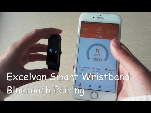 【How to】Bluetooth Pairing Excelvan Smart Bracelet Bluetooth Sports Fitness Calories Wristband
