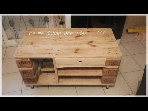 atelier 1 r alisation d 39 un meuble tv en bois de palette youtube. Black Bedroom Furniture Sets. Home Design Ideas