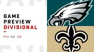 Philadelphia Eagles vs. New Orleans Saints | Divisional Round Game Preview | Move the Sticks
