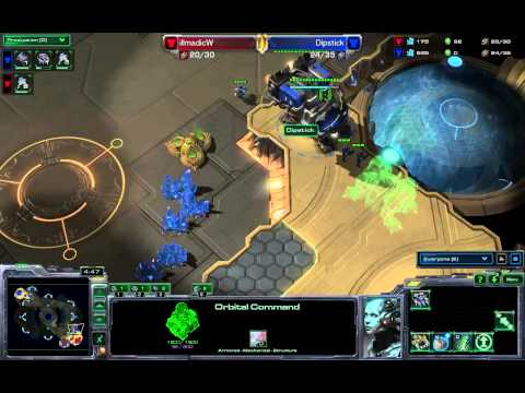 SeKo Starcraft - Dipstick vs IllmadicW - The DubStick Series Game 2 - SC2 HOTS Amateur Replay