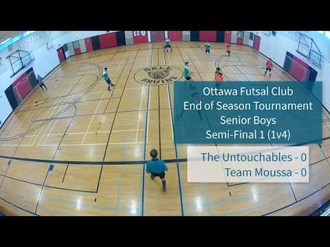 Semi-final 1 - Senior Boys - 2018 Ottawa Futsal Club - End-of-Year Tournament