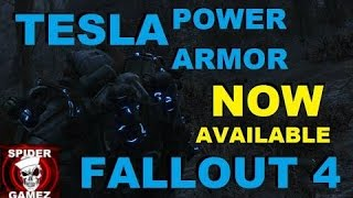 TELSA ARMOR In Fallout 4 Automatron New Legendary Tesla Power Armor Location