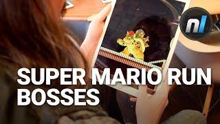 Super Mario Run Bowser & Boom Boom Boss on Giant iPad Pro