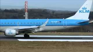 (HD) Bristol Airport (BRS/EGGD) UK, A very cold Monday Morning. 2nd February 2015.
