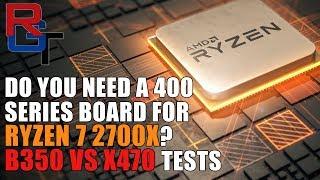 Do You Need A 400 Series Board for the Ryzen 2700X ? | B350 vs X470 Benchmarks & Testing thumbnail