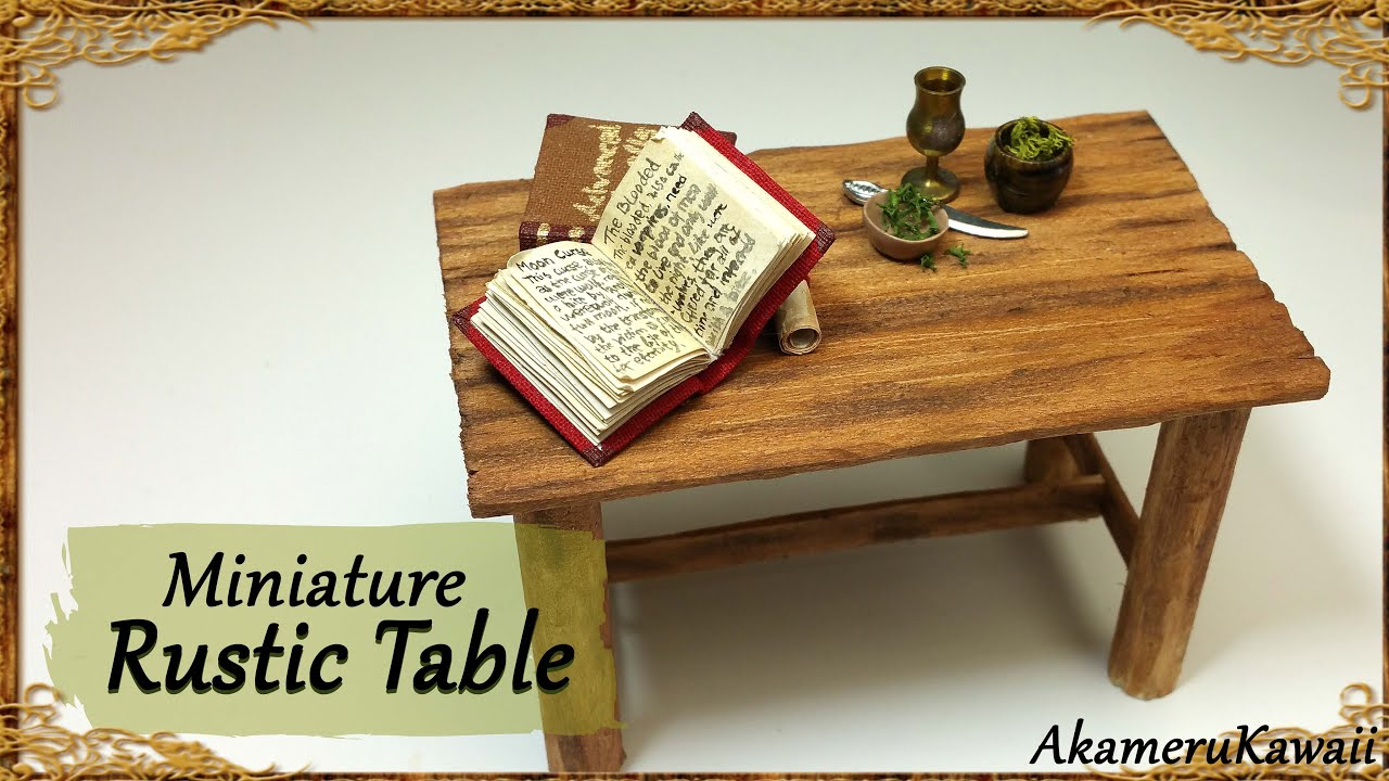 Rustic Miniature Table Simple Wood Tutorial Youtube