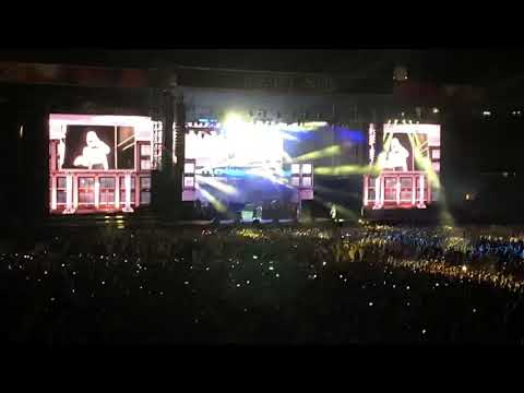 Eminem lights up the MCG in Melbourne Australia