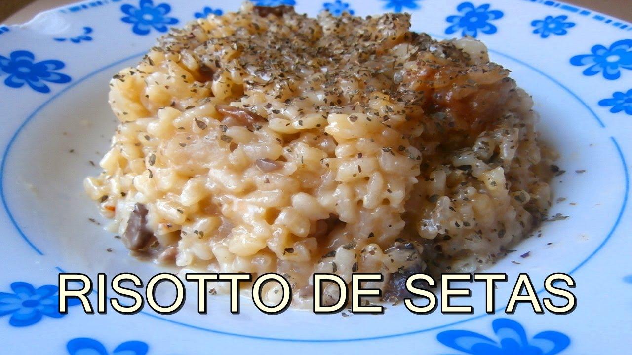 Risotto de setas o champi ones arroz recetas de cocina for Como cocinar risotto de setas