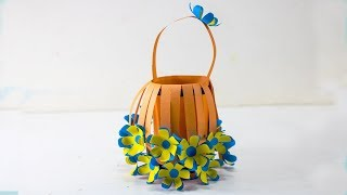 How to Make Beautiful Flower Bouquet With color Paper   Handcraft    DIY Paper Craft   Handy Crafts