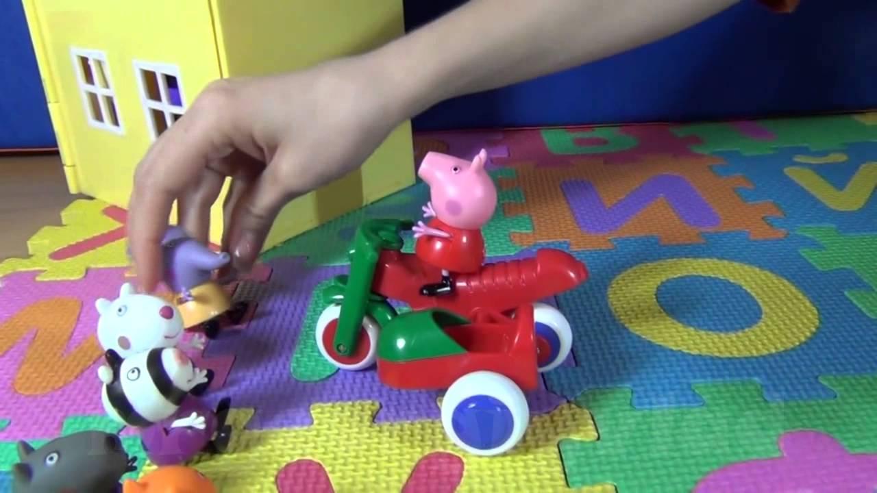 Свинка Пеппа и ее друзья. Пеппа катает друзей на мотоцикле ...