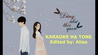 Karaoke Đừng như thói quen (Hạ tone) - JayKii ft Sara