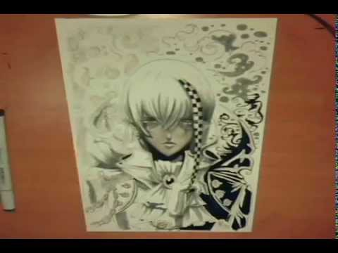 Copic Manga Drawing Steps And Tips Youtube