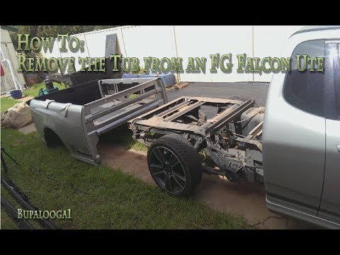 Bf Falcon Ute Wiring Diagram Chevy Starter How To Remove The Tub From An Fg Youtube