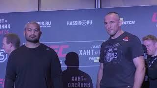 Хант - Олейник, Орловский - Абдурахимов, Крылов - Блахович. Face Off турнира UFC