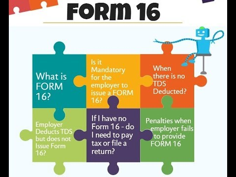 WHAT IS FORM 16|| PART A & B||HINDI