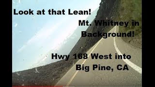 Highway 168 into Big Pine California