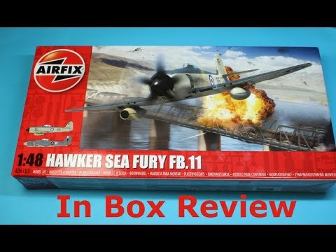 Airfix 148 Hawker Sea Fury Fb11 New Tool In Box Review Youtube