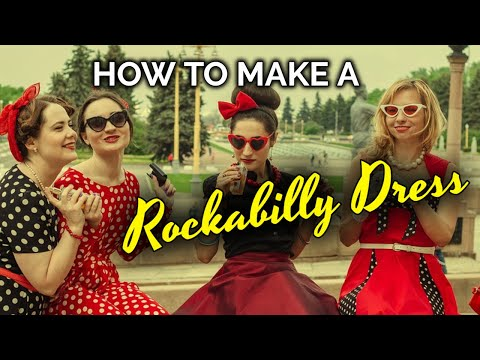 How to make a Rockabilly Dress…with free pattern!