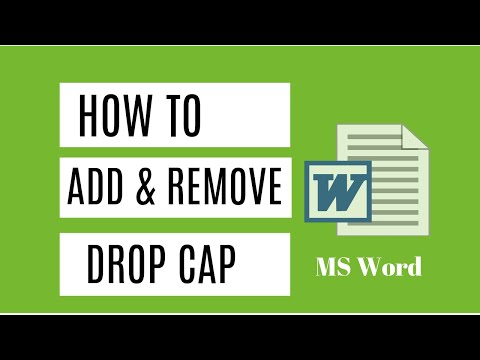 Learn How To Add Drop Cap To Your Text In MS Word