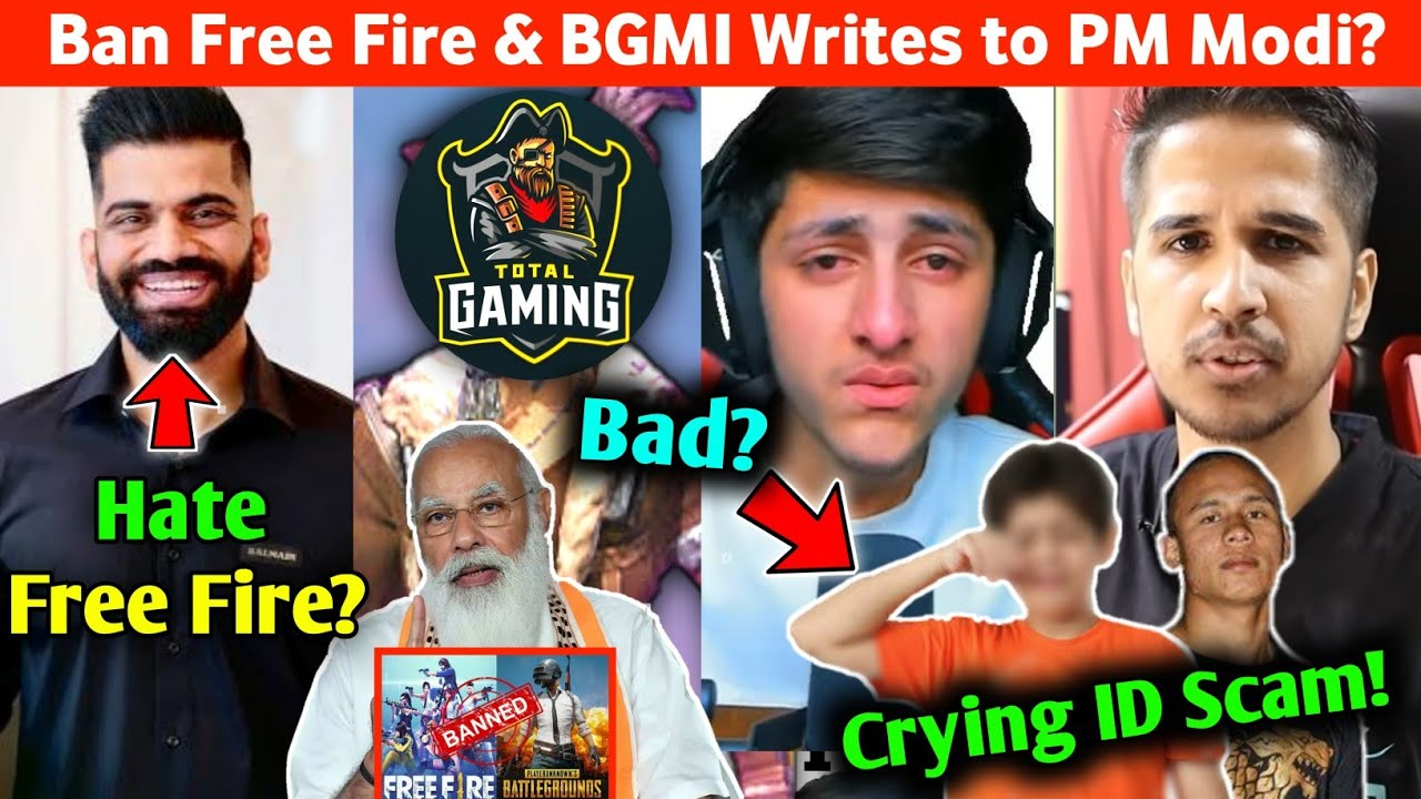 Free Fire & BGMI Ban Letter To PM Modi?😱 Technical Gurujii Hate Free Fire😠Total Gaming Comment Off?😮