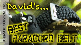 Rattlerstrap Paracord Survival Belt - Best Belt for Bushcraft, EDC, Bug Out, Tactical, Emergencies