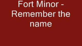 Fort Minor Remember The Name(Clean Version)