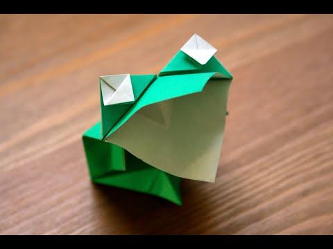 origami grenouille bavarde animated frog senbazuru. Black Bedroom Furniture Sets. Home Design Ideas