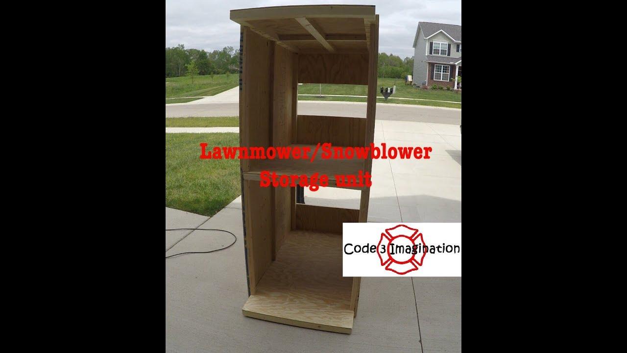 Lawnmower/Snowblower Storage Cabinet