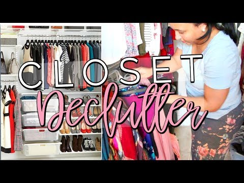 CLEAN WITH ME 2018 | DECLUTTER & ORGANIZE WITH ME | HUGE CLOSET CLEAN OUT!! | Page Danielle