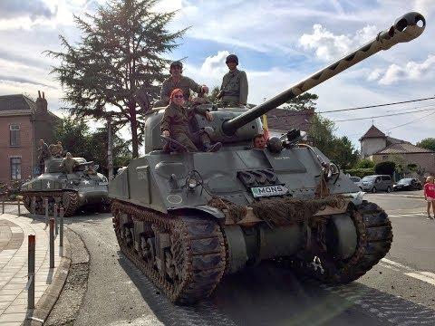 ► Tanks in Town 2017 - Colonne de véhicules militaires à Hyon (Mons) ◄