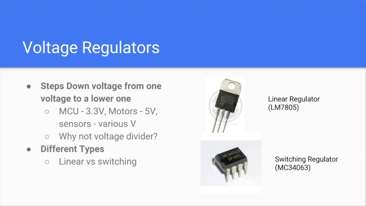 Micromouse Lecture One 2016 Youtube Switching Voltage Regulator Types
